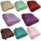 Luxury Chenille Throw - Large Warm Thermal Woven Throw Over - Sofa Bed Blanket