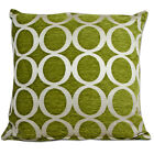 green and cream cushions