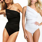 Slimming One Shoulder Mesh Panels Swimsuit One-Piece Bather Swimwear sw1010