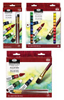 ROYAL LANGNICKEL WATERCOLOUR ARTIST PAINT & BRUSH SET 12ml TUBE PACKS 12,18, 24
