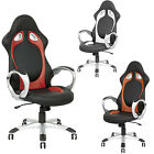 BUCKET RACING CAR SEAT OFFICE COMPUTER CHAIR BLACK RED WHITE BROWN PU LEATHER