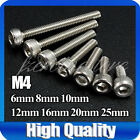 A2 M4 Stainless Steel Socket Cap Allen Key Bolts Screws Hex Head DIY Materials