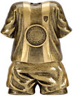 FOOTBALL KIT SHIRT SHORTS TROPHY SOCCER RESIN 2 SIZES AVAILABLE ENGRAVED FREE