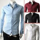Men's Casual Shirt Dress Shirt Long Sleeve Longsleeve Button down Slim Fitted