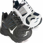 MENS LACE UP GYM JOGGING TRAINERS CASUAL SPORTS SHOES RUNNING LEISURE SZ 6-13UK
