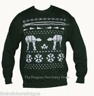 Fun Green Christmas Star Jumpers White Galaxy Wars Nordic Sweaters Gift Idea