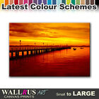 Pier Jetty SEASCAPE SUNSET  Canvas Print Framed Photo Picture Wall Artwork WA