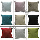 "PLAIN CHENILLE CUSHION COVER CASE TEAL RED CREAM GREEN BLACK 55 x 55cm 22"" x 22"""