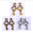 150pcs Tibetan silver silver/golden/retro copper plared key Jewelry Necklace DIY