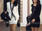 New Hot OL Round-neck Korean Style Womens Long Sleeve Silm Bodycon Mini Dress