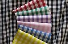 """1/8"""" 1/8 inch Gingham Check Polycotton Curtain Fabric 1m 5m 10m 1 5 10 metres"""