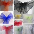 1pc Wedding Organza Chair Cover Sashes Bow Party DIY Decoration 10 COLORS U Pick