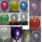 25 Pearly Party Balloons Wedding Helium Choose Colour in White. Pink, Purple
