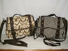 Amelie ladies satchel style bag Camoflague OR Navy/Beige Stripe Canvas