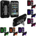 Hybrid Heavy Duty Hard Soft Skin Case Cover Stand Accessory for iPhone 3G S 3GS