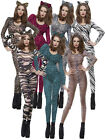 Size 6 - 14 Ladies Bodysuit + Headband Womens Sexy Animal Fancy Dress Costume