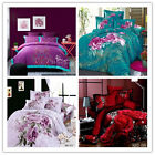 Floral Series King/Queen Size Bed Quilt/Doona/Duvet Cover Set 4P New 100% Cotton