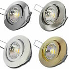 1-10x Set Grosser 5W=50W Power-LED Decken Einbaustrahler Timo 230Volt Downlights