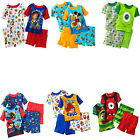 Boy 4PC Disney Jake And The Never Land Pirates Pajama Shirt Shorts Sets 2T 3T 4T