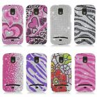 For Samsung Galaxy Relay T699 Cover Bling Diamond Rhinestone Hard Case