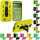 Color Hybrid Heavy Duty Case Cover with Stand for Samsung Galaxy S4 S IV i9500