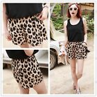 Sexy Women Summer Leopard Shorts Middle Waist Stretchy Minishort Casual Pants