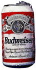 "6.5-10.5"" BUDWEISER BUD BEER CANS BAR  WALL SAFE STICKER CHARACTER BORDER CUT"