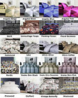 SINGLE, DOUBLE, QUEEN, KING - Microfibre Printed Quilt Cover Set - NEW