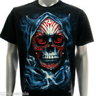 d16 Rock Chang 3D T-shirt Tattoo Glow in Dark STUD Skull bmx Swag Ghost Cotton