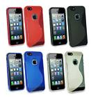 Grip S Line Silicone Gel Case Cover & Free Screen Protector Fits Apple iPhone 5