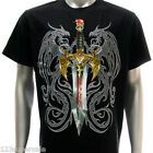 d19 Rock Chang 3D T-shirt Tattoo STUD Pierce Sword Skull bmx Biker Cotton Unisex