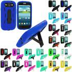 Hybrid Heavy Duty Hard/Soft Case Cover Stand for Samsung Galaxy S3 S III Phone