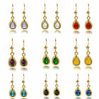 Lady Gift 18k Yellow Gold Plated Birthstone Earring Dangle Fashion Jewelry