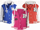 NEW GIRLS JACKET HOODY Baseball FLEECE Girls CLOTHING AGE 7 8 9 10 11 12 13