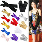 New Ladies Satin Party Dress Prom Evening Wedding Brisal Gloves UK