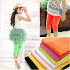 Hot Baby Girl Stretch Leggings Candy Color Pants Tights Trousers 2-10 Years