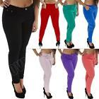 New Womens High Waisted Colour Jeans Jeggings Skinny Plus Size 12 14 16 18 20 22