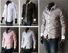 New Mens Fashion Luxury Casual Slim Fit Stylish Dress Shirts 5 Colors M,L,XL,XXL