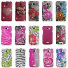 Bling Gem Hard Cover Snap On Case Accessory For HTC ONE X AT&T