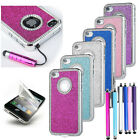 All in One Luxury Leather Bling Glitter Crystal Case Cover For iPhone 4 4S +Film