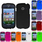 For Samsung Galaxy Centura S738C Rubberized HARD Case Snap On Phone Cover
