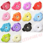 Bundle Bulk New 24pc Daisy Flower Clip Crochet Baby Headbands Hair Clips Set
