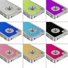 Color Bling Glitter Luxury Rhinestone Hard Chrome Case Cover for iPhone 4 4G 4S