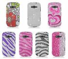 For Samsung Galaxy Reverb M950 Virgin Mobile Bling Hard Cover Case