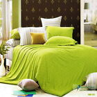 King/Queen/Double Size Quilt/Doona/Duvet Cover Set 100% Cotton Pillowcases Green