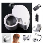 20X 30X 40X 45X 60X times LED Jeweler Magnifier Magnifying lens Glass Loupe