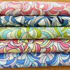 "FAT QUARTER retro 60's funky swirl pattern fabric 18X22"" 45X55cm 100% cotton"