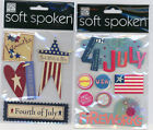U CHOOSE  Soft Spoken 4TH OF JULY FOURTH OF JULY 3D Stickers patriotic