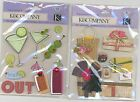 "U CHOOSE K&Company PRETTY PACKAGES NIGHT OUT smaller 3D Stickers 3-3/4""X4"""