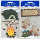 U CHOOSE  Paper Bliss GONE FISHING CAMP OUT 3D Stickers outdoors